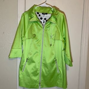 Vintage Sharon Young Lime Green Jacket